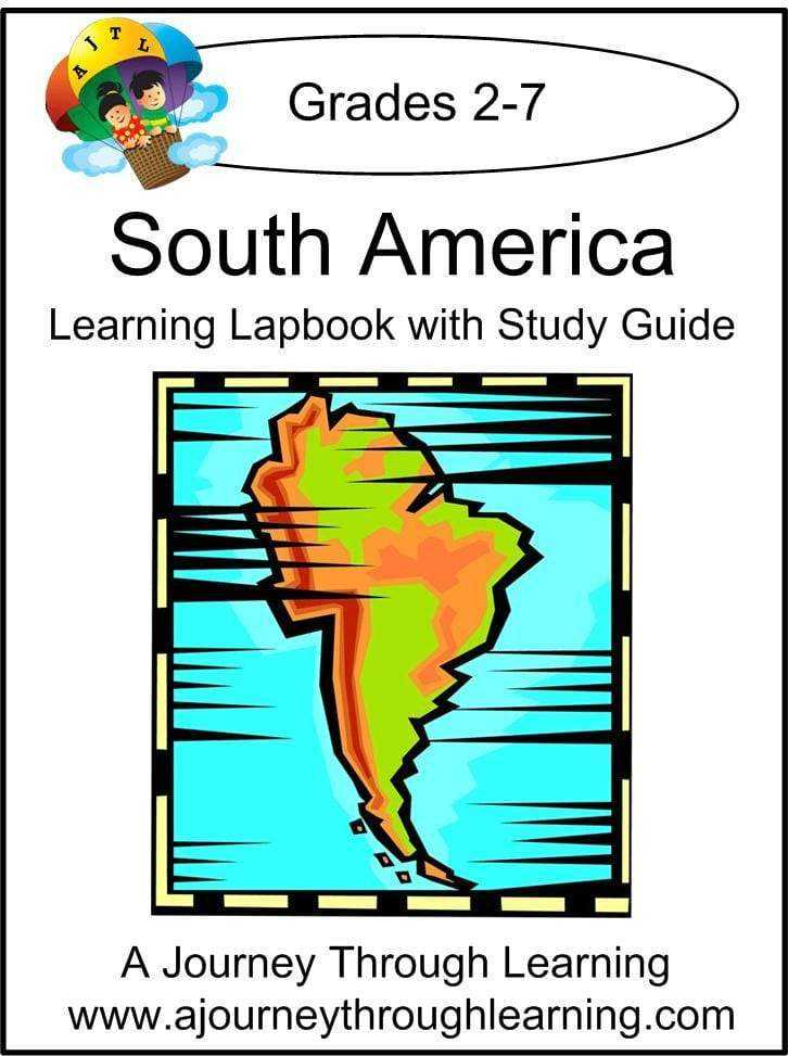 South America Lapbook with Study Guide - A Journey Through Learning Lapbooks