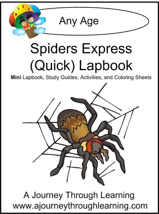 Spiders Express Lapbook - A Journey Through Learning Lapbooks