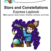 Stars and Constellations Express Lapbook - A Journey Through Learning Lapbooks