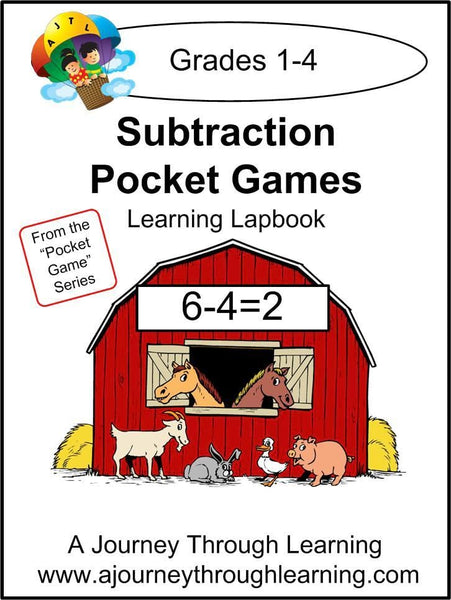 Subtraction Pockets Lapbook - A Journey Through Learning Lapbooks