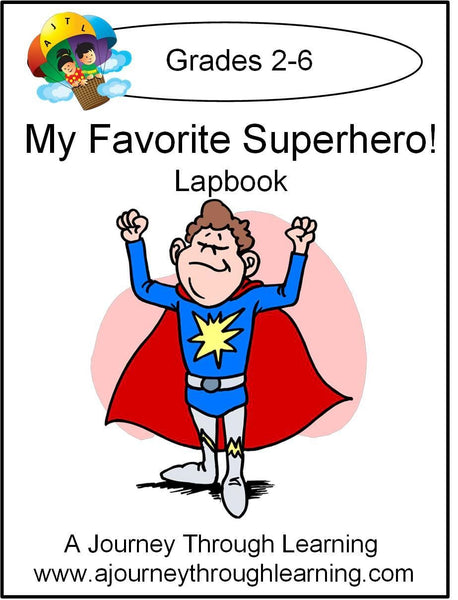 My Favorite Superhero Lapbook - A Journey Through Learning Lapbooks