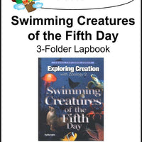 Exploring Creation with Swimming Creatures by  Apologia/Jeannie Fulbright 3 Folder Lapbook- Color - A Journey Through Learning Lapbooks