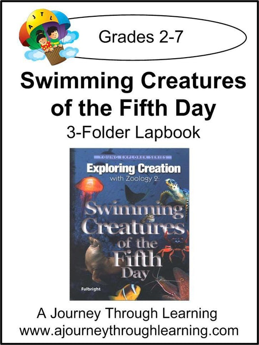 Apologia Zoology 2 Swimming Creatures 3 Folder Lapbook- Color - A Journey Through Learning Lapbooks