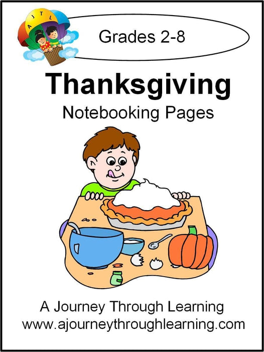 Thanksgiving Notebooking Pages - A Journey Through Learning Lapbooks