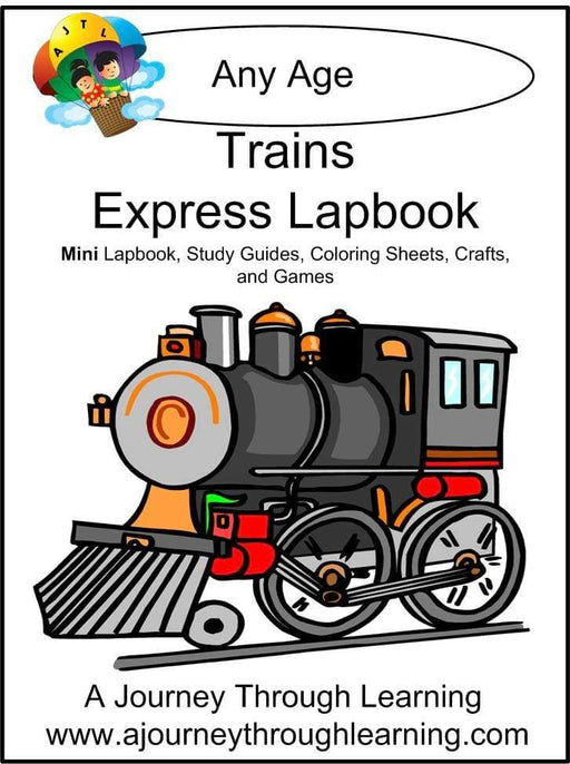 Trains Express Lapbook - A Journey Through Learning Lapbooks