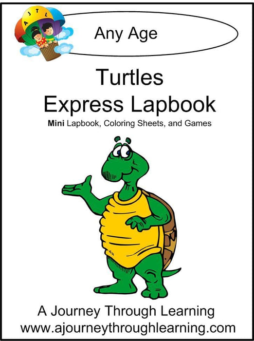 Turtles Express Lapbook - A Journey Through Learning Lapbooks