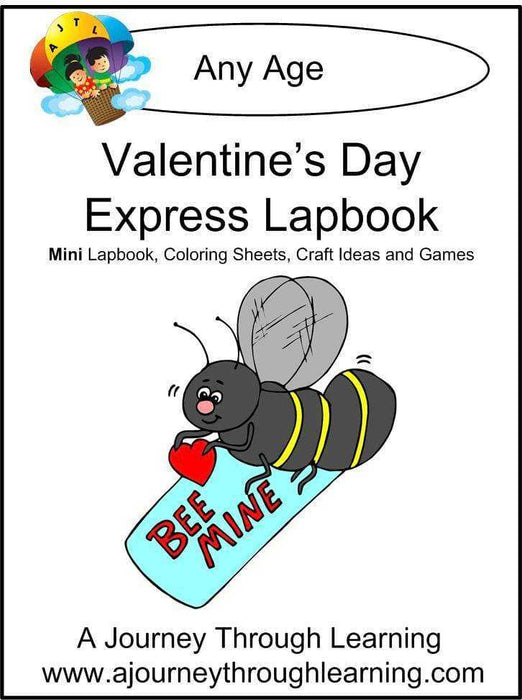 Valentine's Day Express Lapbook - A Journey Through Learning Lapbooks