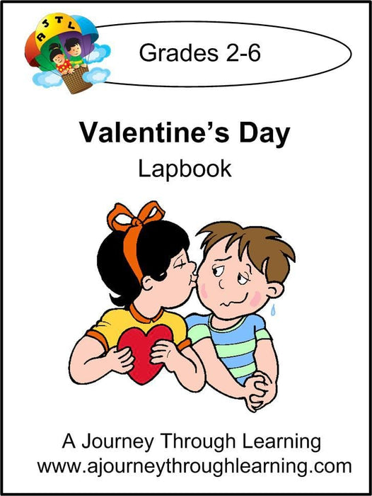 Valentines Day Lapbook with Study Guide - A Journey Through Learning Lapbooks
