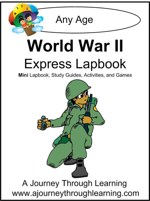 World War II Express Lapbook - A Journey Through Learning Lapbooks