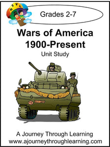Wars of America 1900-Present Unit Study - A Journey Through Learning Lapbooks