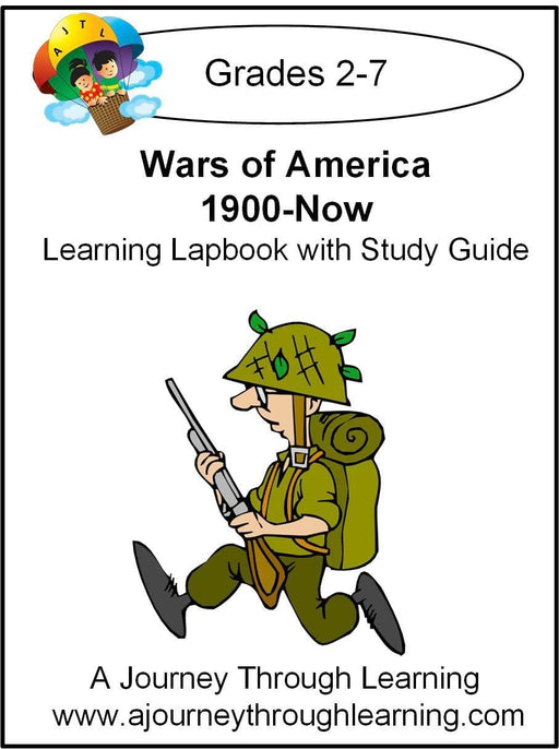 Wars of America 1900-Now Lapbook with Study Guide | A Journey Through Learning Lapbooks