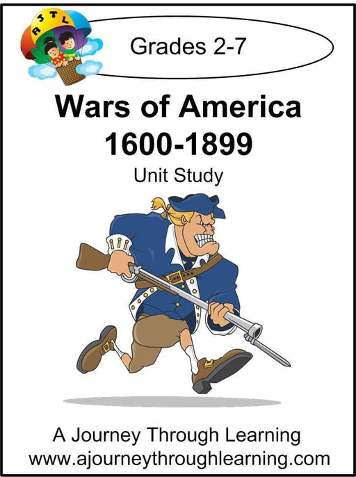 Wars of America 1600-1899 Unit Study | A Journey Through Learning Lapbooks