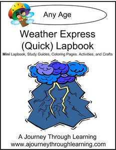Weather Express Lapbook - A Journey Through Learning Lapbooks