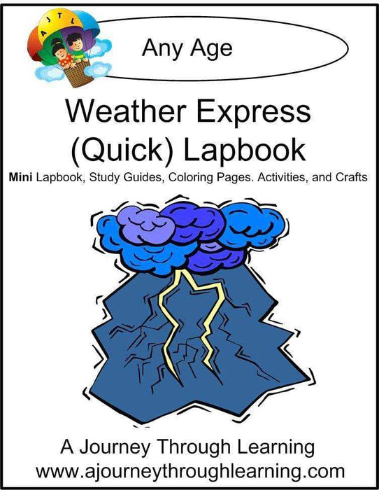 Weather Express Lapbook | A Journey Through Learning Lapbooks
