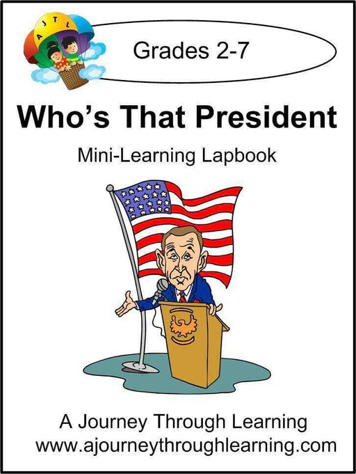 Who's That President Express Lapbook | A Journey Through Learning Lapbooks