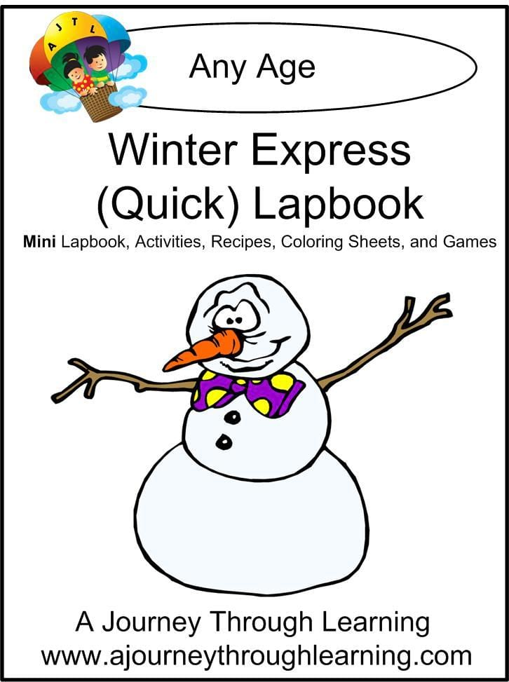 Winter Express Lapbook - A Journey Through Learning Lapbooks