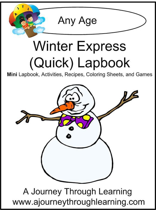 Winter Express Lapbook | A Journey Through Learning Lapbooks