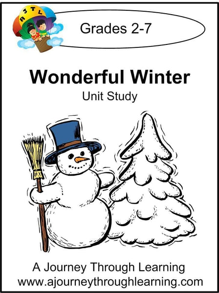 Wonderful Winter Unit Study - A Journey Through Learning Lapbooks
