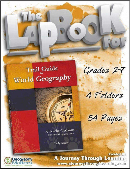 Trail Guide to World Geography Lapbook | A Journey Through Learning Lapbooks