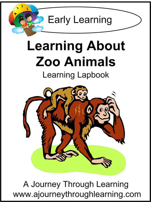Learning About Zoo Animals Lapbook | A Journey Through Learning Lapbooks