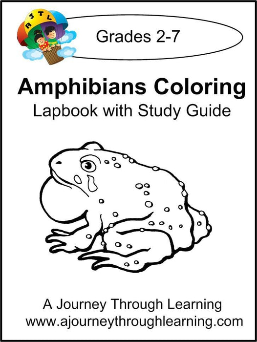 Amphibians Coloring Pages Lapbook with Study Guide | A Journey Through Learning Lapbooks