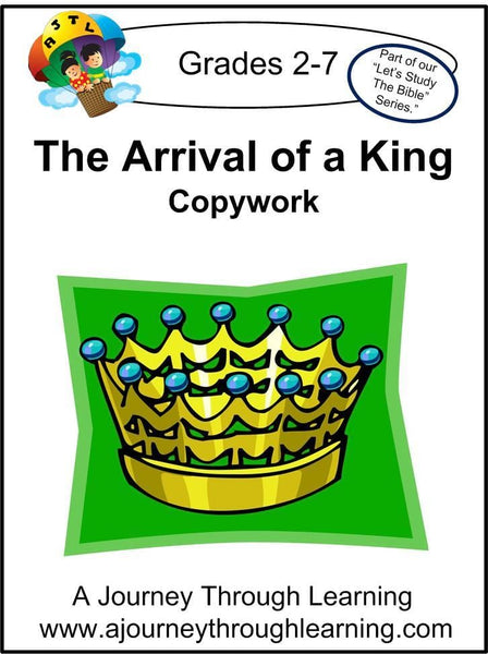 Jesus-The Arrival of a King Copywork (cursive letters) - A Journey Through Learning Lapbooks