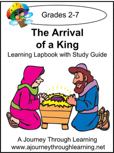 Jesus-Arrival of a King Lapbook with Study Guide