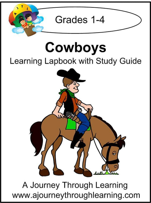Cowboys Lapbook with Study Guide - A Journey Through Learning Lapbooks