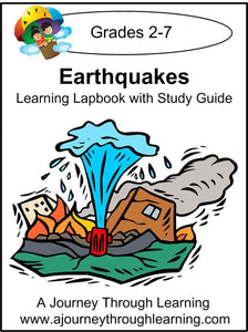 Earthquakes Lapbook with Study Guide - A Journey Through Learning Lapbooks