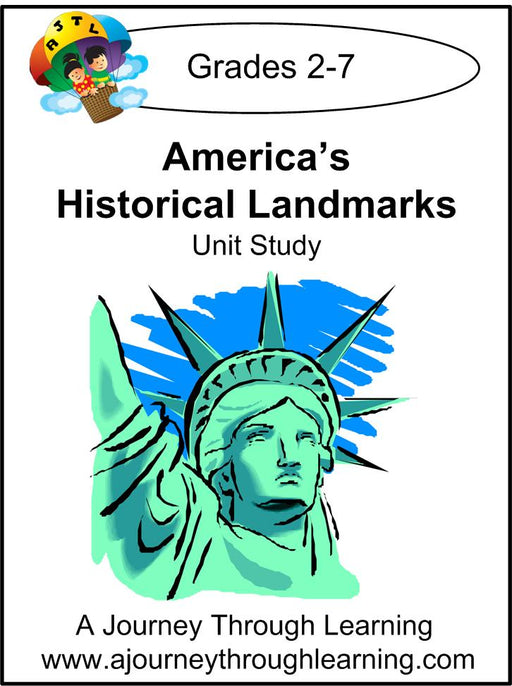 America's Historical Landmarks Unit Study - A Journey Through Learning Lapbooks