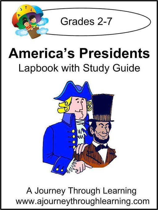 Presidents Lapbook with Study Guide - A Journey Through Learning Lapbooks