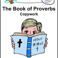 Book of Proverbs Copywork (printed letters) - A Journey Through Learning Lapbooks