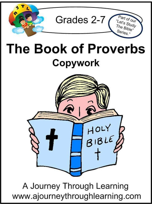 Book of Proverbs Copywork (cursive letters) - A Journey Through Learning Lapbooks