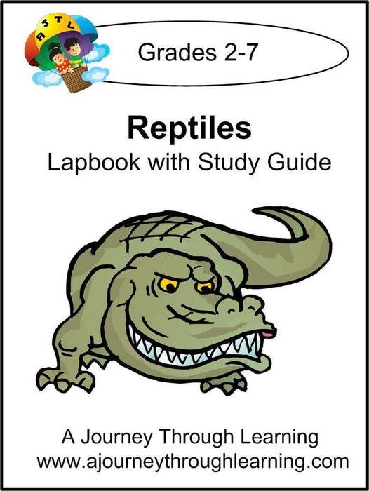 Reptiles Lapbook with Study Guide - A Journey Through Learning Lapbooks