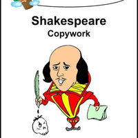 William Shakespeare Copywork (cursive letters) - A Journey Through Learning Lapbooks