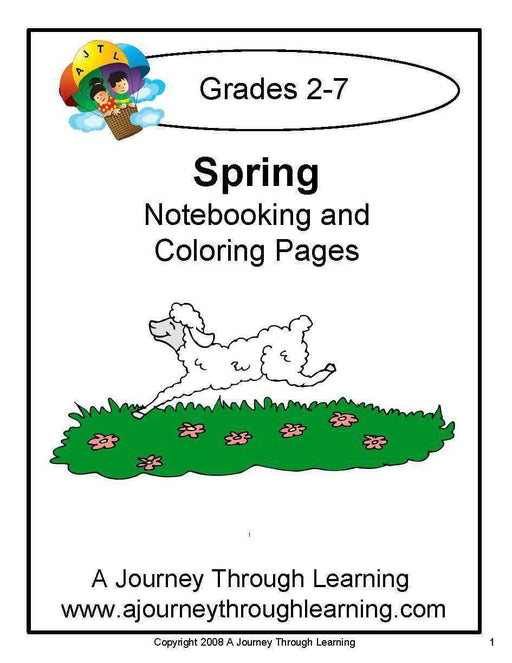 Spring Notebooking and Coloring Pages - A Journey Through Learning Lapbooks