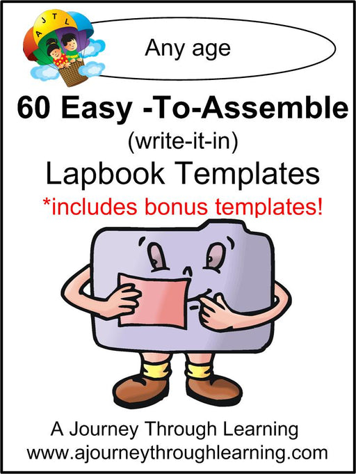 60 Easy-to-Assemble Lapbook Templates - A Journey Through Learning Lapbooks
