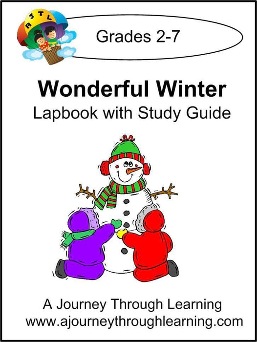 Wonderful Winter Lapbook with Study Guide - A Journey Through Learning Lapbooks