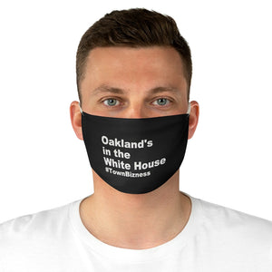 """OAKLAND'S IN THE WHITE HOUSE"" MASK (ADJUSTABLE)"