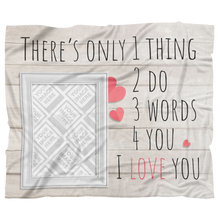 Valentine's Day Personalized Fleece Blanket
