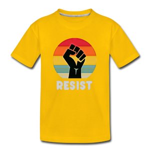 Resist Tee Youth - sun yellow
