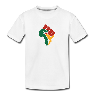 African Colors Fist (Youth) - white
