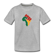 African Colors Fist (Youth) - heather gray