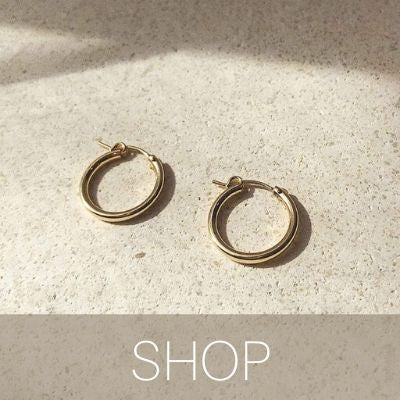 gold filled hoops every day jewelry bonito