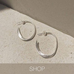 miro hoops medium size silver