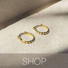 gold hoops for every day bonito jewelry