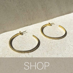 thalia medium to large hoops gold bonito jewelry