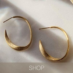 miro hoops medium size gold
