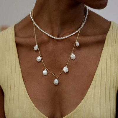 Coco Pearls Necklace - Gold
