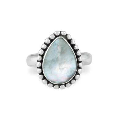 Tulum Ring - 925 Sterling Silver and Mother of Pearls